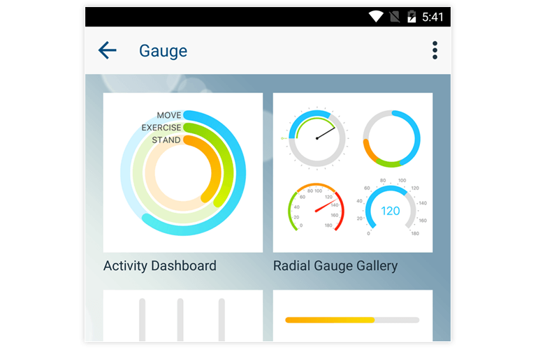 radial gauges xamarin