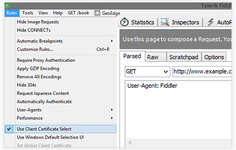 Fiddler Client Certificate Select