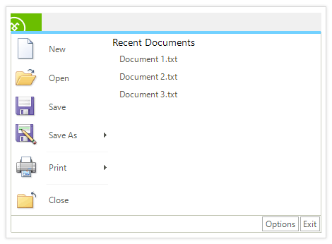 UI for WinForms ApplicationMenu Easy and Familiar