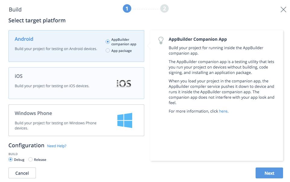 appbuilder build