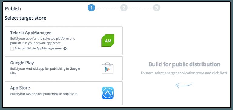 telerik platform app store