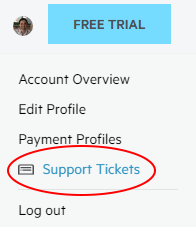 support tickets