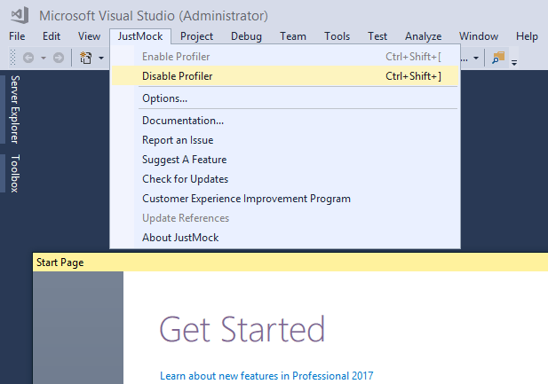 JustMock supports Visual Studio 2017