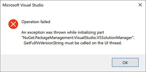 Build error NuGet UI for UWP