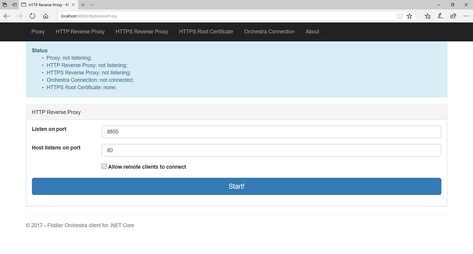 Fiddler Orchestra HTTP Reverse Proxy