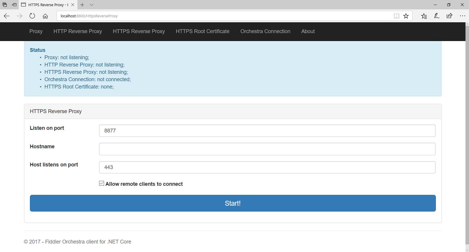 Fiddler Orchestra HTTPS Reverse Proxy