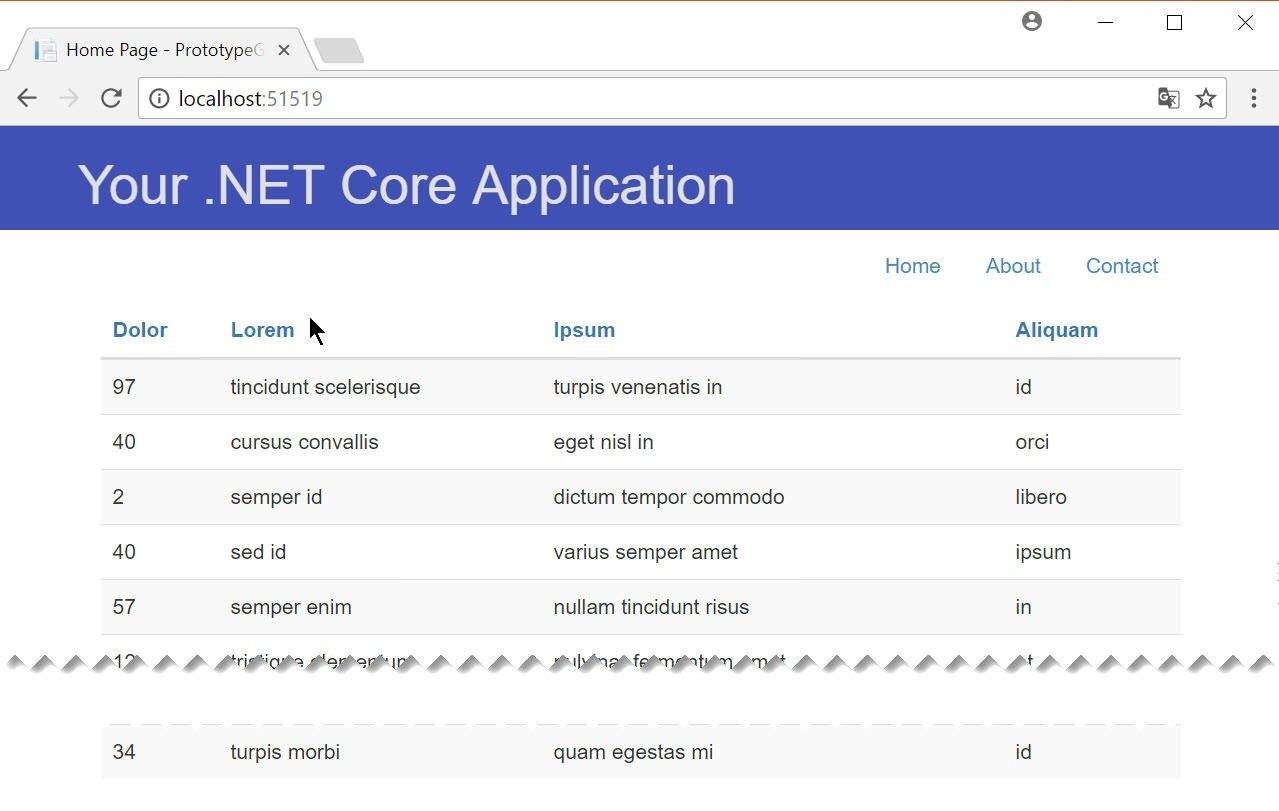 GenFu .NET Core Styled Table