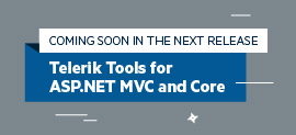 Sneak Peek Telerik ASP.NET MVC and Core Offerings in R1 2018_270x123