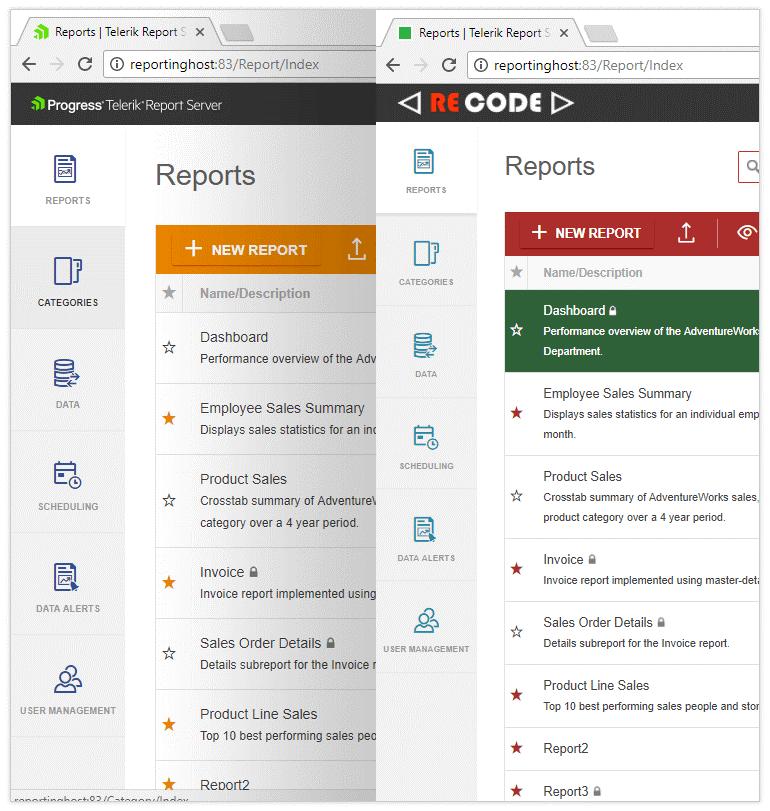 Telerik Report Server - Whitelabel
