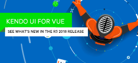 Whats New for Vue in the R3 2018 Release of Kendo UI_270x123