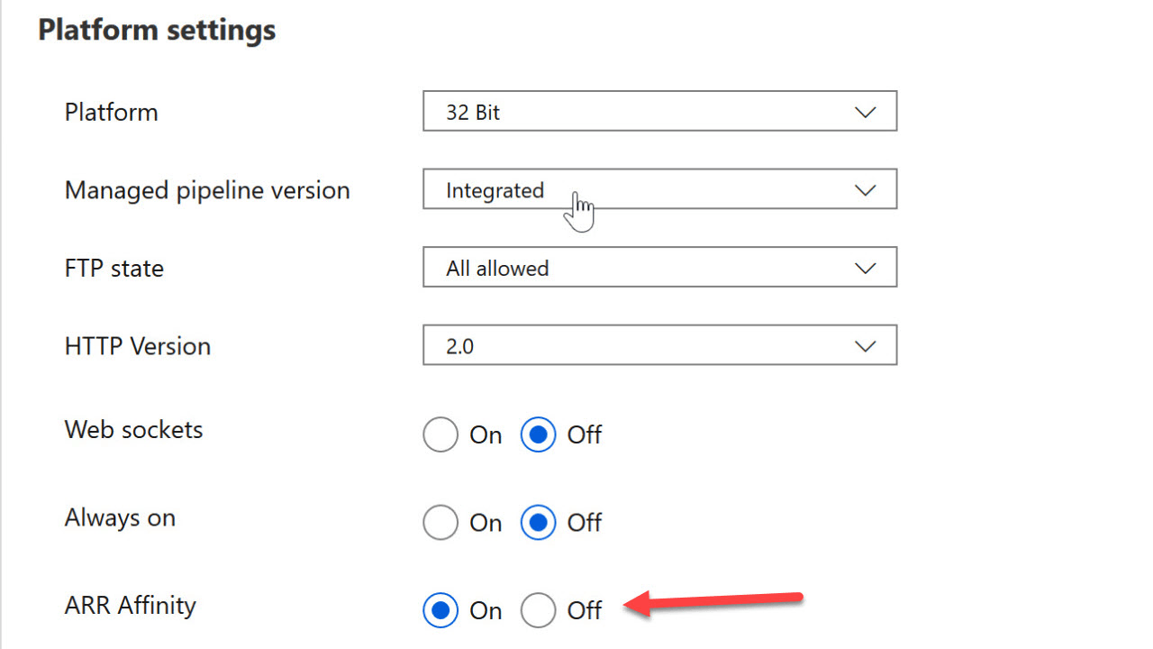 Turning off Instance Affinity