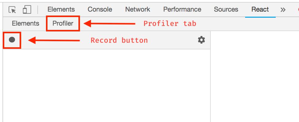 React Profiler tab