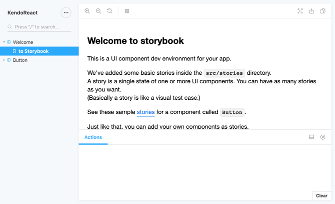 Default UI for Storybook