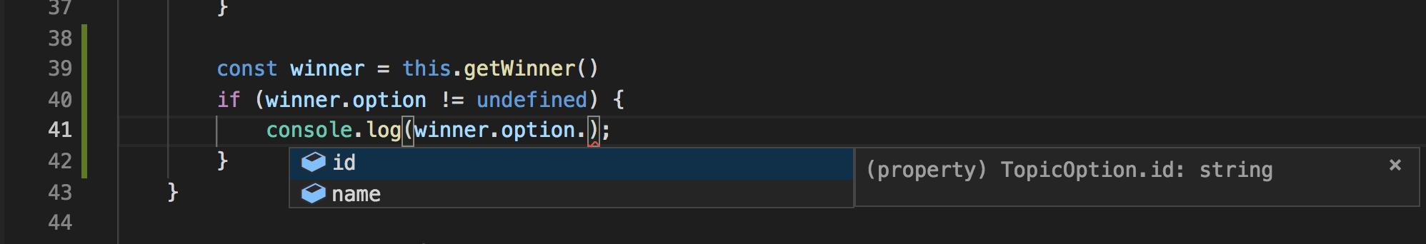 Visual Studio Code: TopicOption id