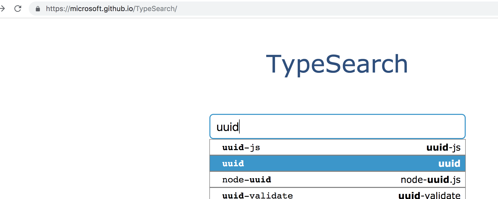 typesearch