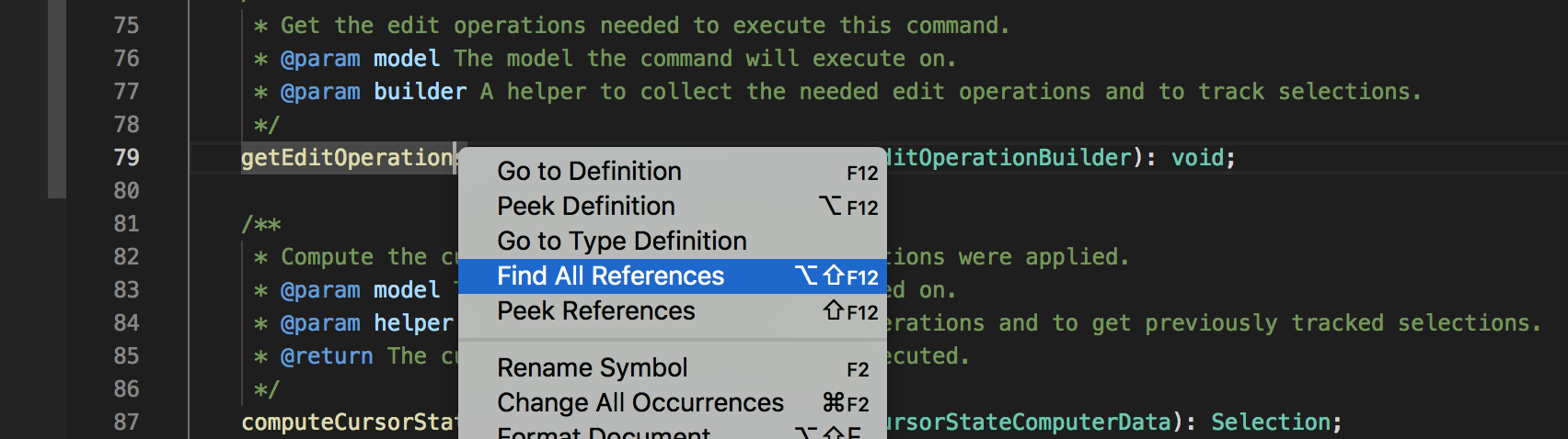 Visual Studio Code: Find All References
