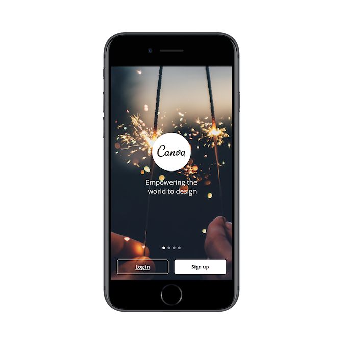 Splash screen for Canva app