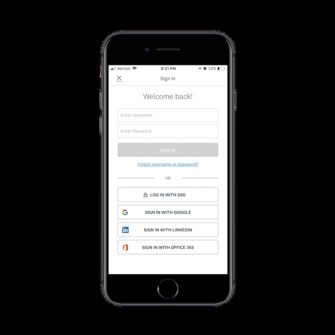 Second login screen for SurveyMonkey