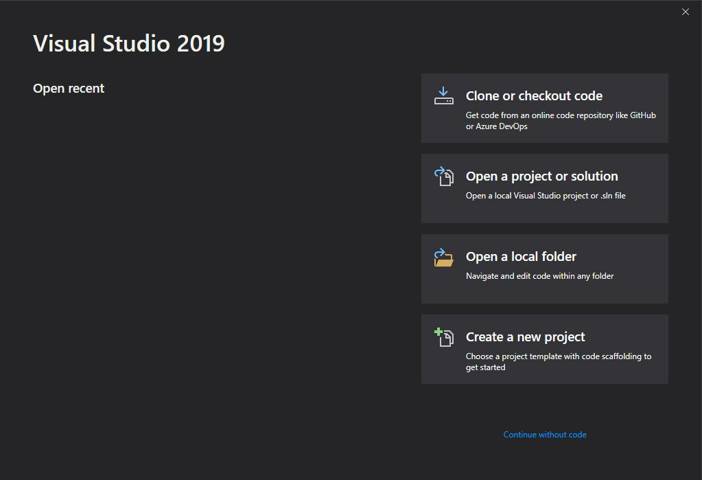 VisualStudio2019-Startup-Modal