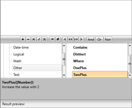 User defined custom functions in RadExpressionEditor