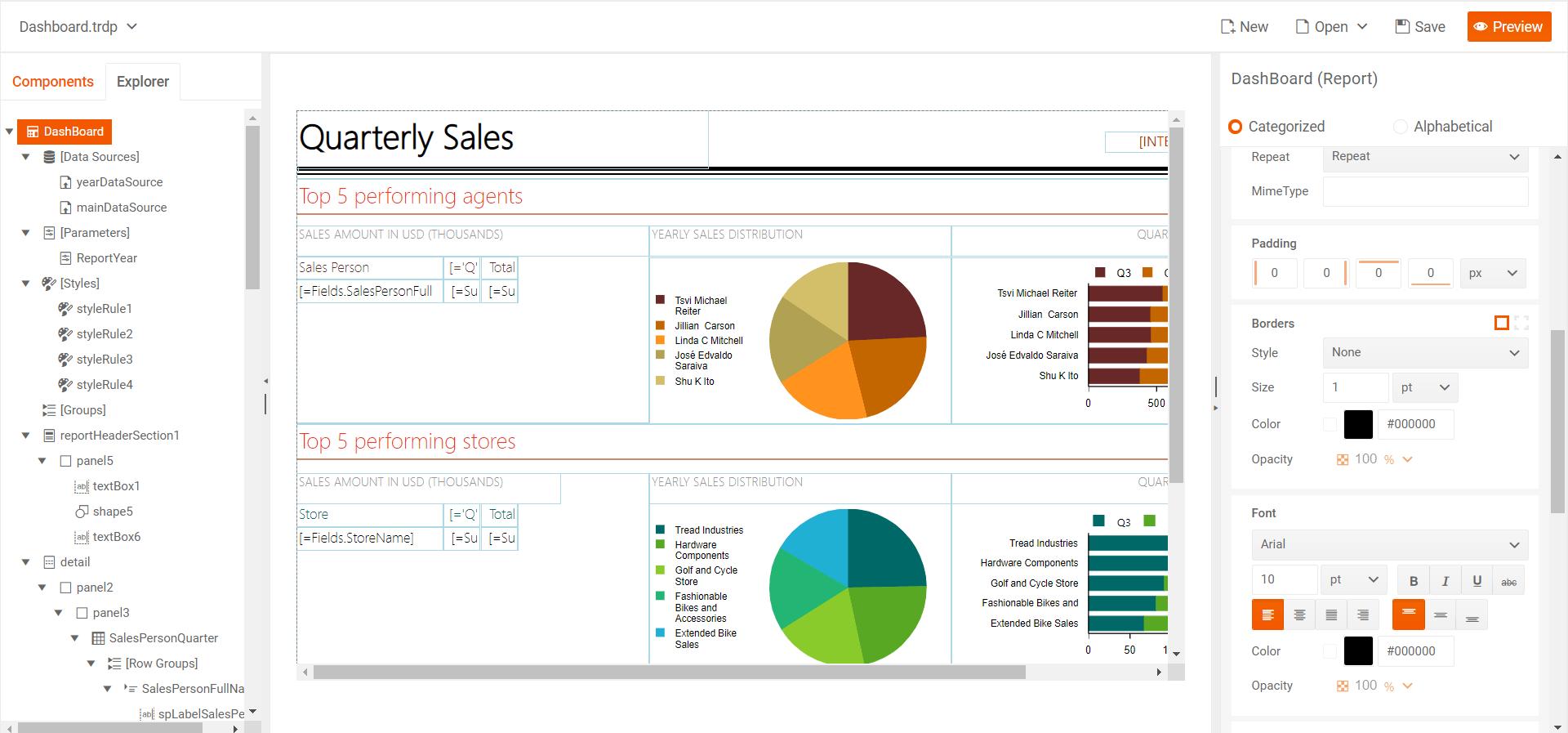 Web Report Designer