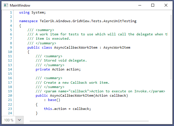 Telerik UI for WPF Fluent Theme