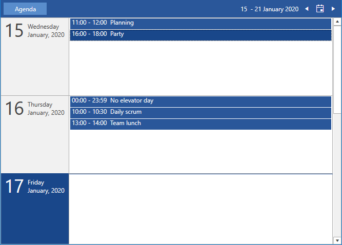 Agenda view first look