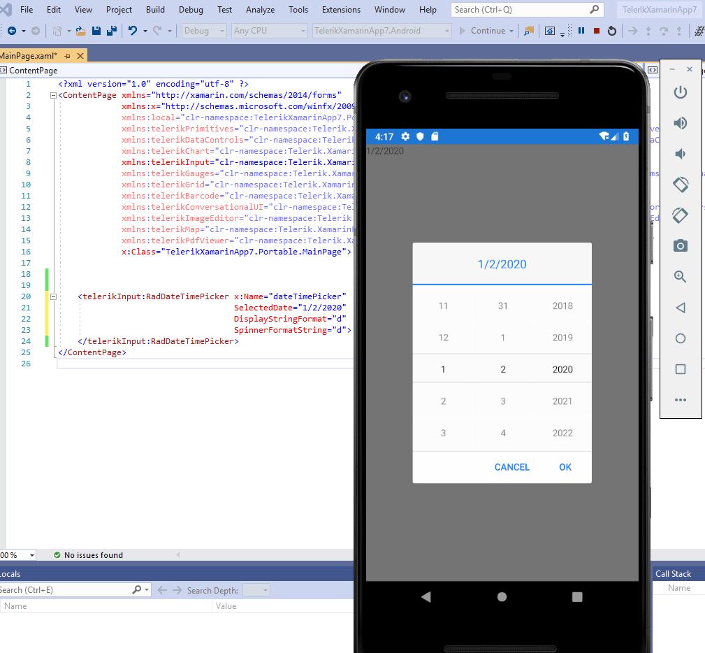 New Telerik UI for Xamarin DatePicker