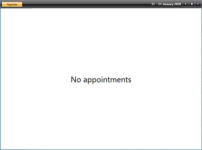 No appointments