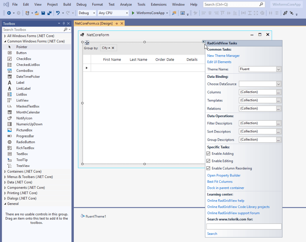 .NET Core WinForms Designer Update