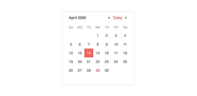 Kendo UI for Vue Native Vue Calendar Component