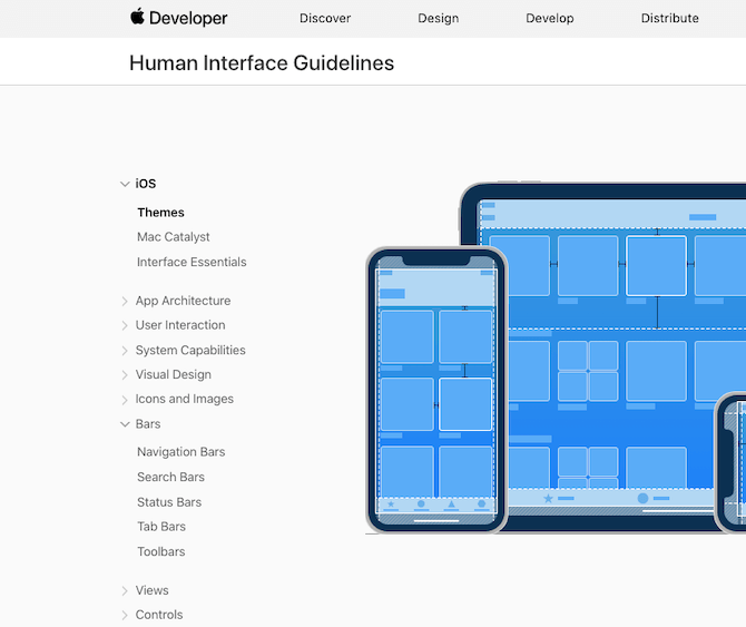 Apple's design system is referred to as Human Interface Guidelines. In its iOS design system, it uses very simple and universal naming conventions for its design components and styles.