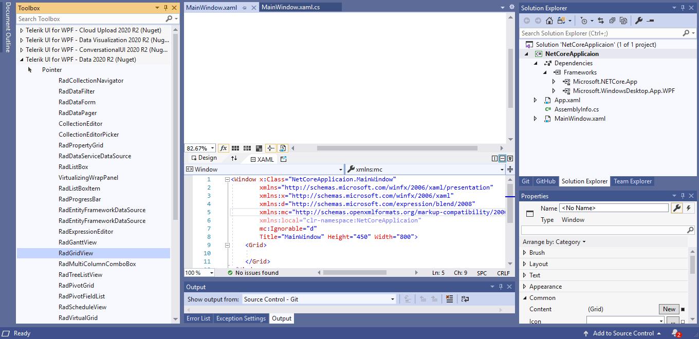 DotNet Core Prepopulated VS Toolbox