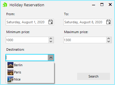 holiday reservation form