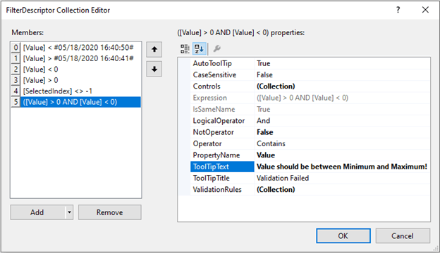 LogicalOperator and ToolTipText