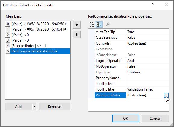 ValidationRules collection