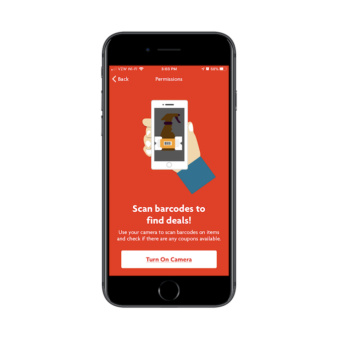 Family Dollar customers can use the mobile app to scan barcodes of products in the store and see if there are any deals associated with them.