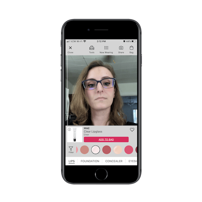 Suzanne Scacca experiments with Ulta's AR feature: GLAMlab Live Try-On.