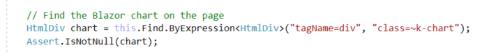 Code - Find Blazor Chart