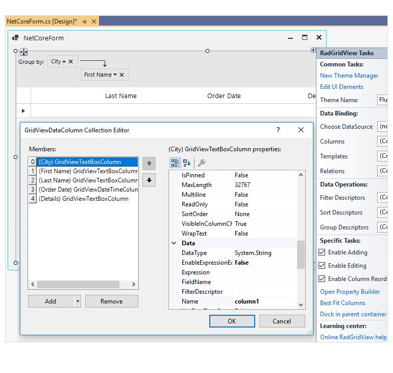 Telerik UI for WinForms NET 5 WinForms Designer Support