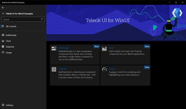 Telerik WinUI Examples App