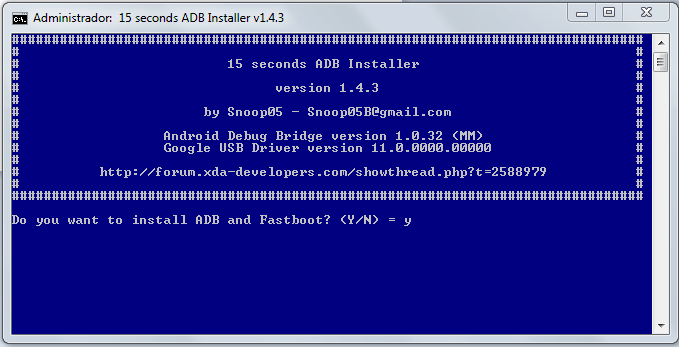 Do you want to install ADB and Fastboot?