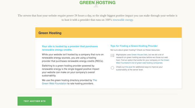 Ecograder provides tips for using green hosting providers that use renewable energy.