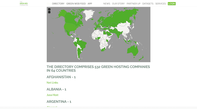 The Green Web Foundation has a running list of 532 green hosting companies operating around the world.