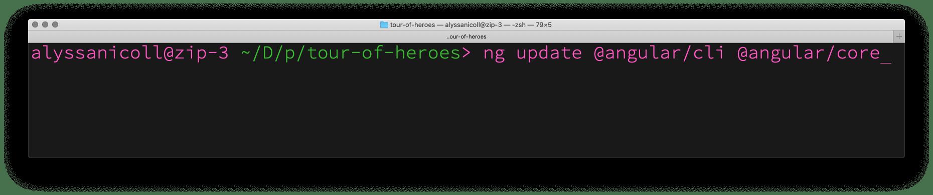 ng update—to Angular 11!