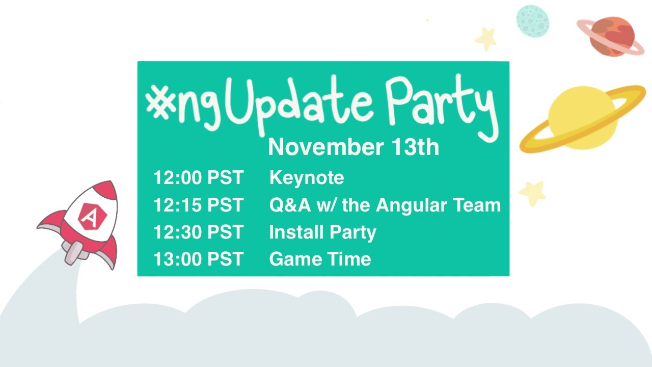 ngUpdate Party on November 13th