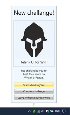 NotifyIcon Popup - Telerik UI for WPF
