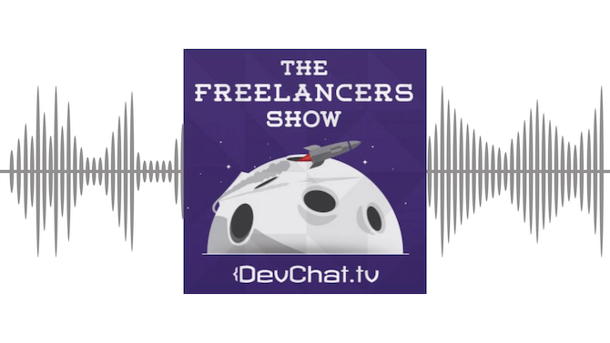 An overview of The Freelancers' Show podcast for design and development freelancers.