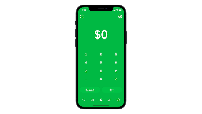 Cash App's navigation uses an icon-only navigation that may make it difficult for users to recognize each of the features of the app.