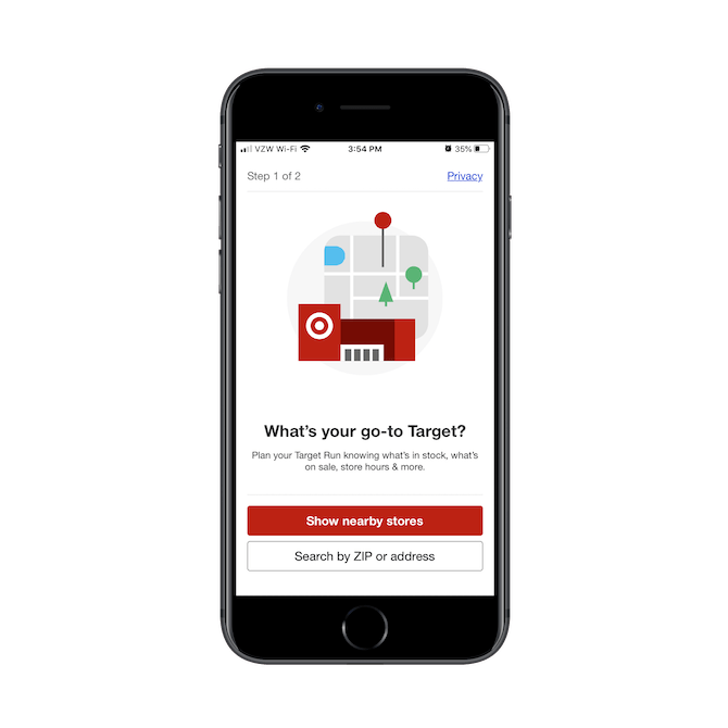 Target asks mobile app users 'What's your go-to Target?' to help them shop online, in-store and buy-online-pickup-in-store.